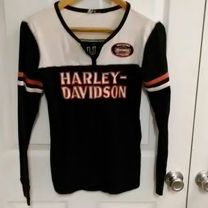 Harley Davidson long sleeve Henley